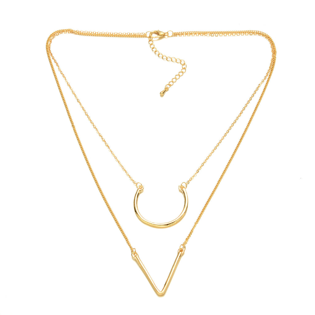Gold-Tone Double Layer Necklace