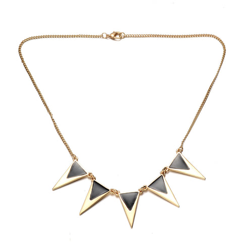 Gold-Tone Bib Necklace