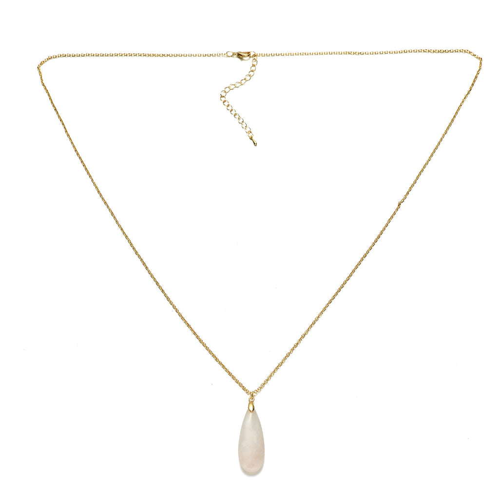 Gold-Tone Stone Necklace