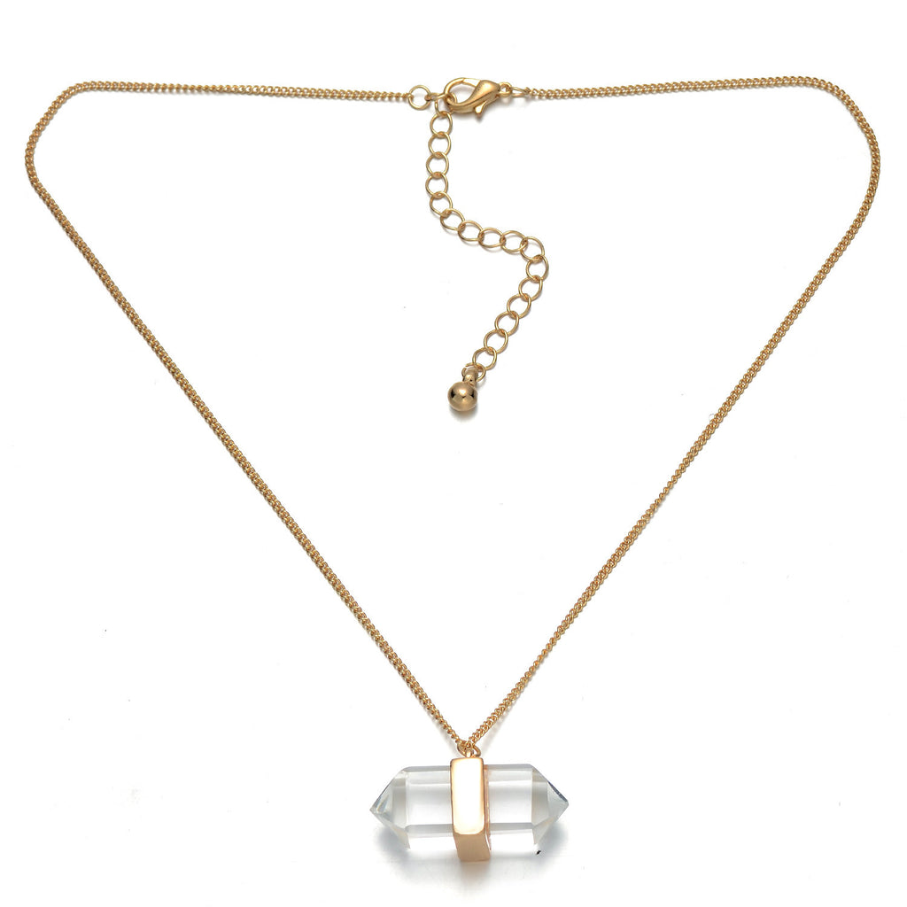Gold-Tone Prism Pendant Necklace