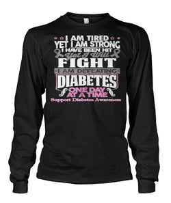 I am defeating diabetes long sleeve shirts