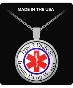 Type 2 Diabetic Pump Wearer Necklace