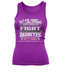 I am defeating diabetes women's tank tops