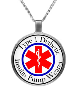 Type 1 Insulin Pump Wearer Alert Necklace