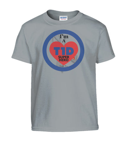 I'm a T1D Super Hero Youth Shirts