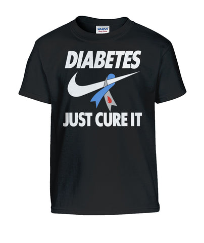 Youth Diabetes Just Cure It Gildan Kids