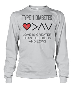 Love is greater then the highs and lows Long Sleeve