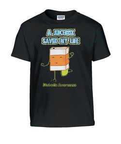 A Juice Box Saved My Life Youth Shirt Gildan Kids