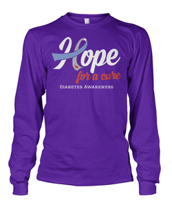 Hope For A Cure Long Sleeve Shirts