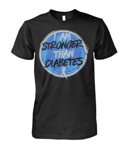 I Am Stronger Then Diabetes  Unisex Cotton Tee