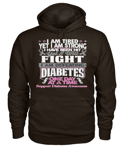 I am defeating diabetes hoodies