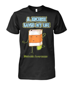A Juice Box Saved My Life Shirts  Unisex Cotton Tee