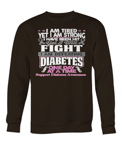 I am defeating diabetes sweatshirts
