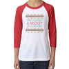 Have Yourself a Mickey Christmas youth raglan