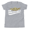Mr. Irresistible youth shirts