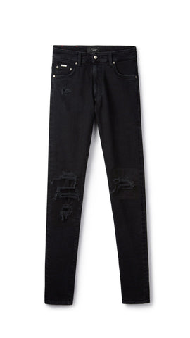 REP BLACK UNDERWORK DENIM