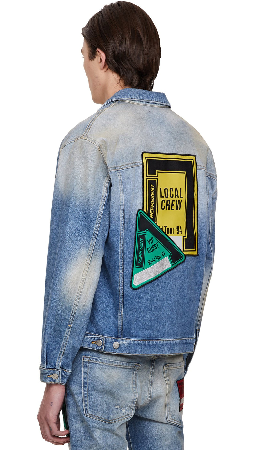 REPRESENT DENIM JACKET - TOUR PATCH