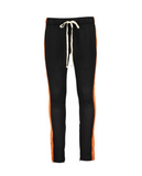 TRACK PANTS - BLACK ORANGE