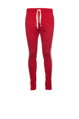 TRACK PANTS - RED WHITE