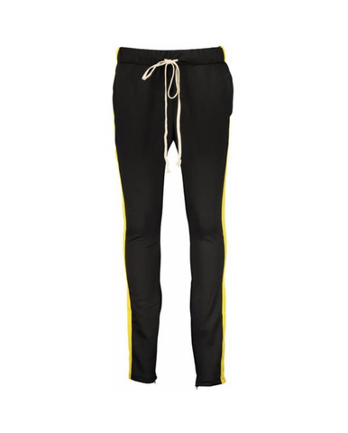 TRACK PANTS - BLACK YELLOW