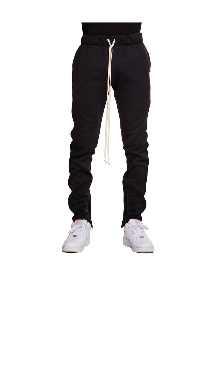 FLEECE PANTS - BLACK