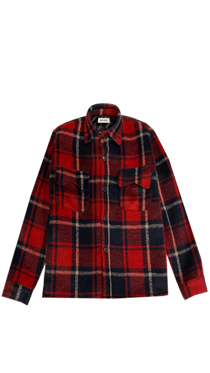 ANFA HEAVY RED WOOL FLANNEL