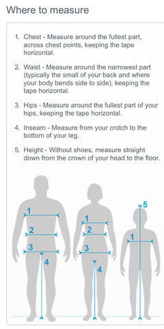 Where to measure for sizing