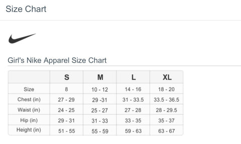 Girl's Sizing