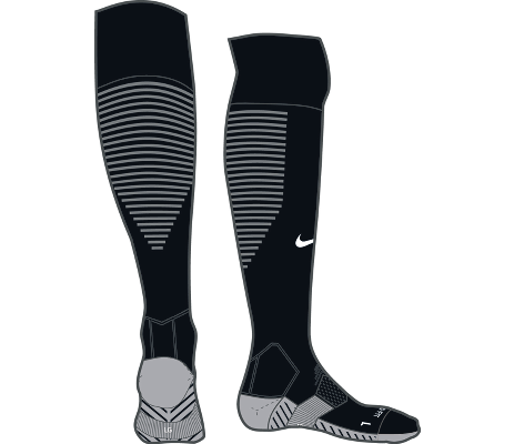 TEAM MATCHFIT CORE OTC SOCK, Black