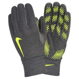 NIKE HYPERWARM FIELD PLAYER SOCCER GLOVES - AVAILABLE IN YOUTH SIZES (GREY/VOLT OR GREY/ORANGE)