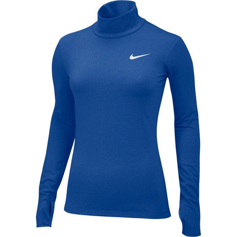 Nike Pro Combat Hyperwarm Compression Dri-FIT Max Mock Long Sleeve - Royal