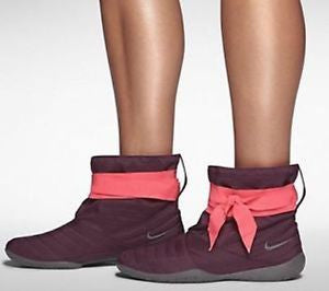 Nike Womens Studio Mid Pack Dancing Yoga Boot Maroon