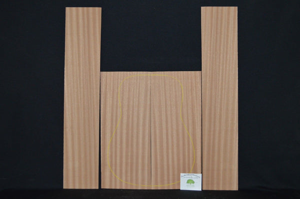 SAPELE Acoustic Guitar Back and Sides Set  Luthier Wood Tonewood