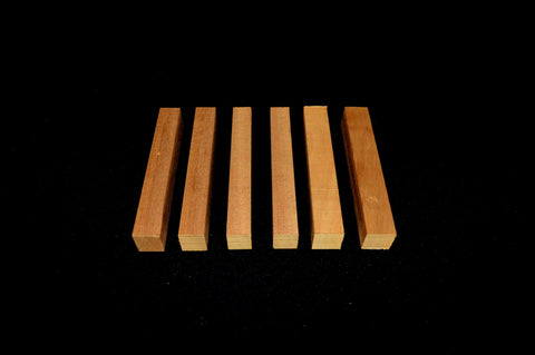 Mahogany Pen Blanks (6 pieces) - Crooked Road Hardwoods