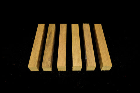 Black Limba Pen Blanks (6 pieces) - Crooked Road Hardwoods