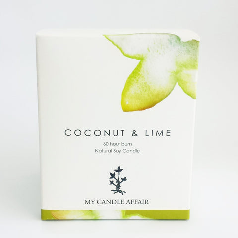 Coconut and Lime Soy Candle - 60 Hour