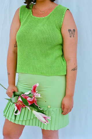 Lime Green Knit (M/L)