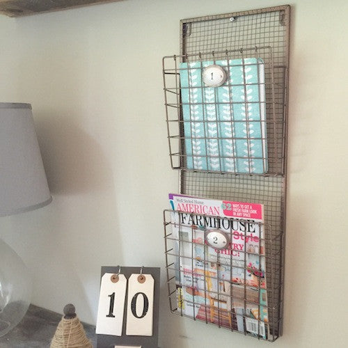 2-Tier Hanging Magazine Rack