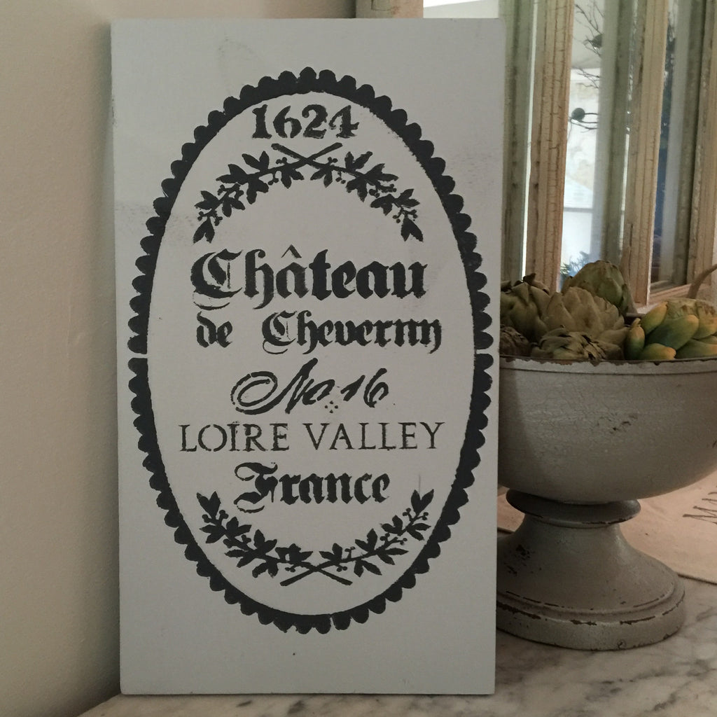 Chateau Bistro Sign - Grey