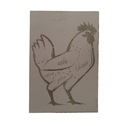 Chicken Bistro Sign - Grey
