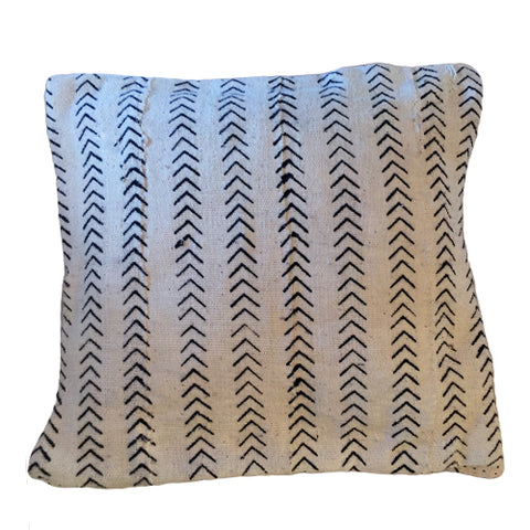 Accent Pillow - Authentic African Mud Cloth - Arrowhead