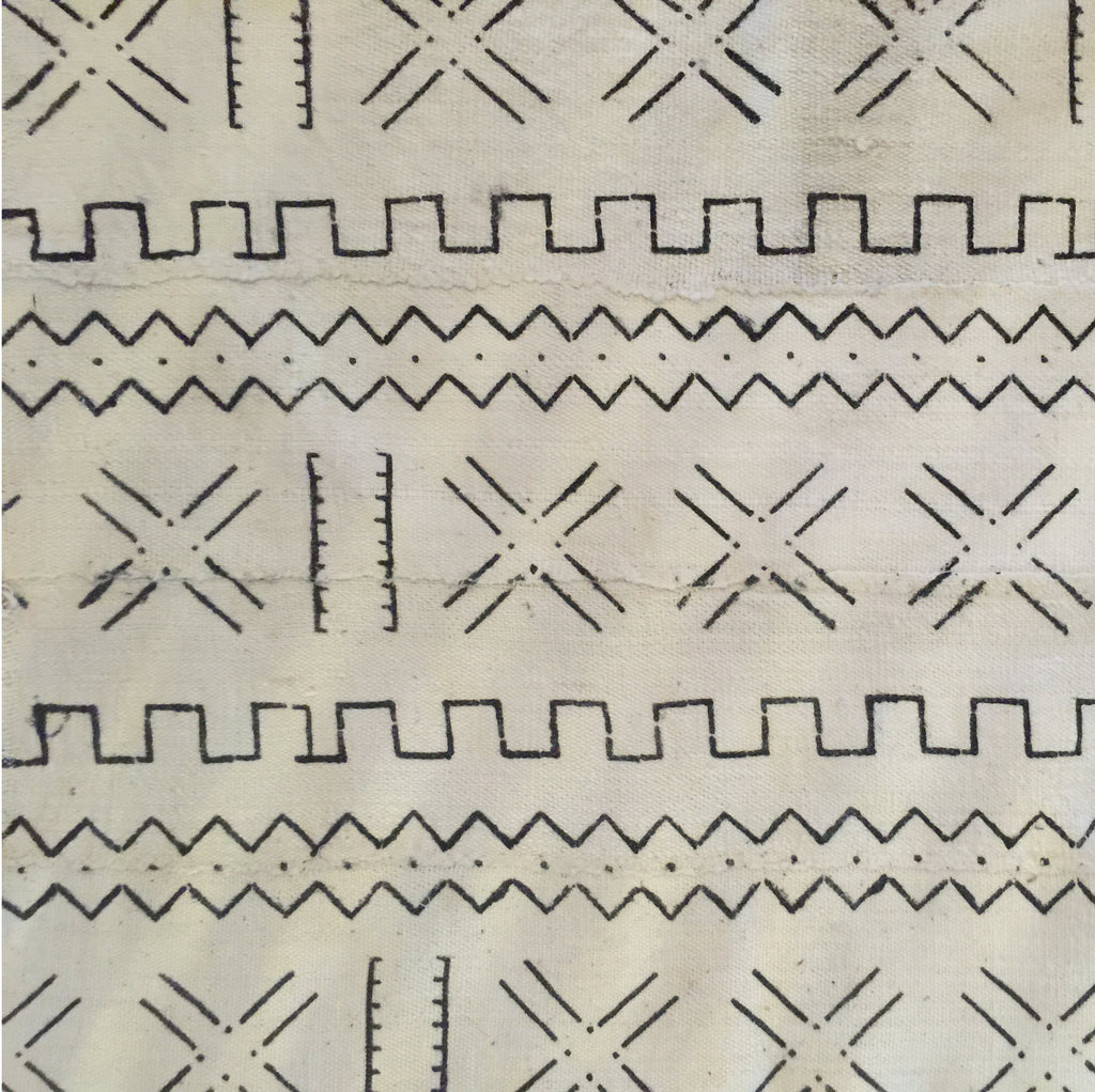 Table Runner - Authentic African Mud Cloth - Geographic