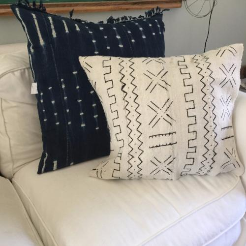 Accent Pillow - Authentic African Mud Cloth - Geographic