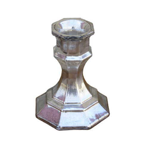 Mercury Glass - Taper Candlestick
