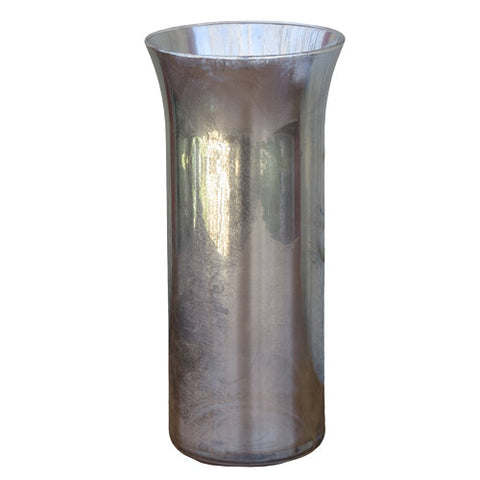 Mercury Glass - Fluted Hurricane Vase