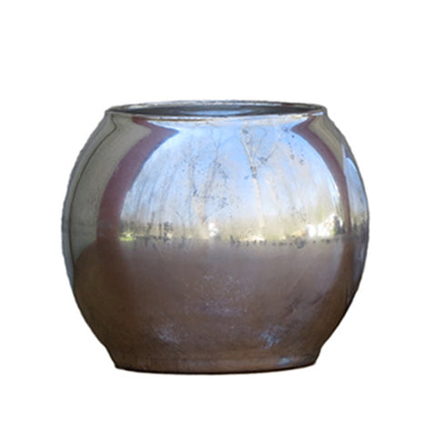 Mercury Glass - Round Candle Holder