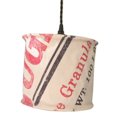 Sugar Sack Canvas Pendant Lamp