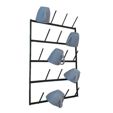 Wall Mount Cup Rack