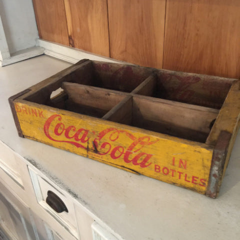 Vintage Coca-Cola Crate - yellow