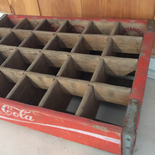 Vintage Coca-Cola Crate - red